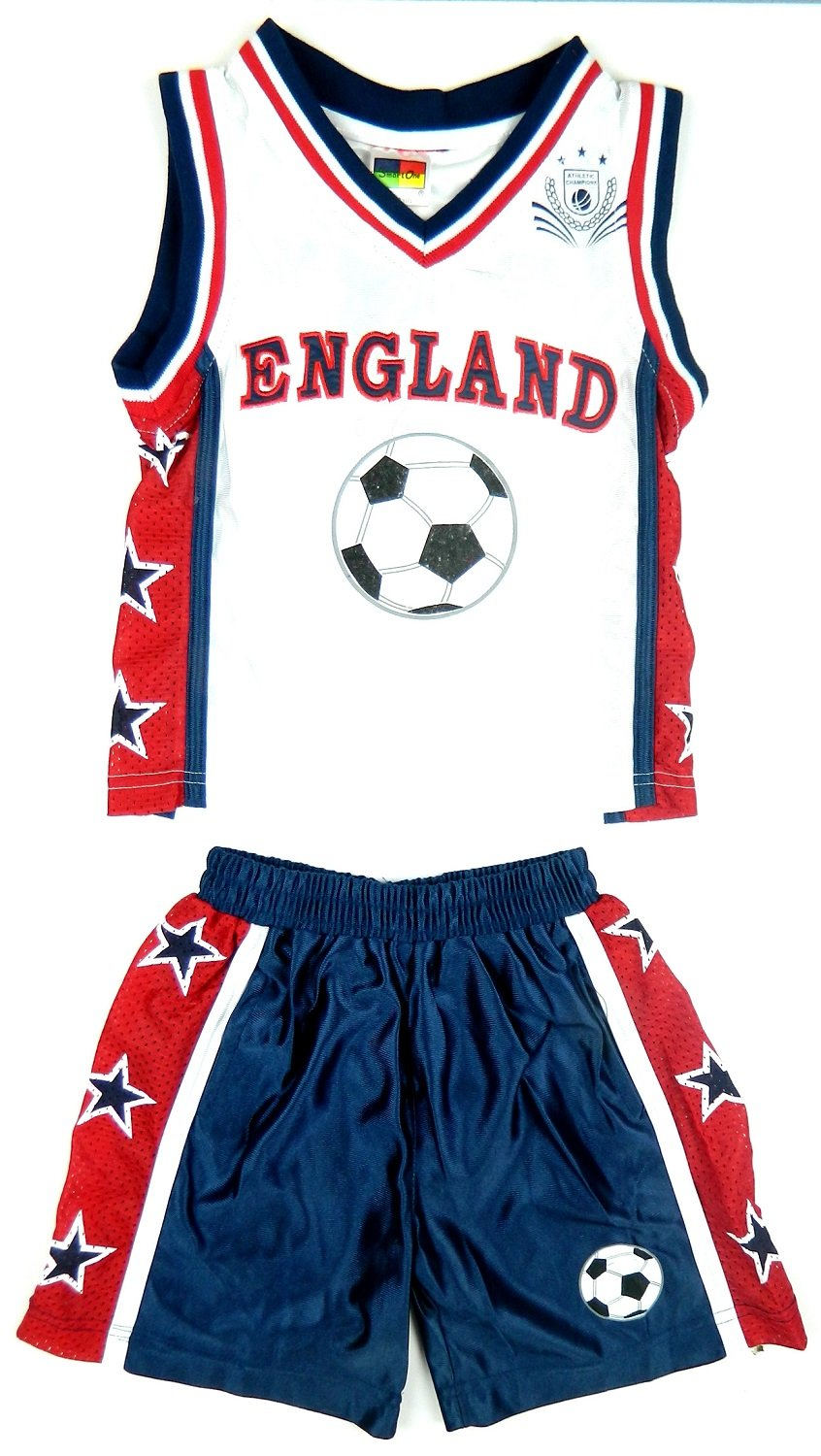 New in Boy's Kid's Sportswear Football ENGLAND Fan Kit Shorts Set in Navy & White and Red & White Set Ages 7- 8, 9-10, 11-12 & 13