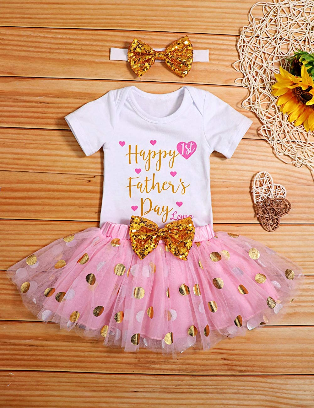 Kids Girls Summer Clothes White Off-Shoulder Ruffle Tops with Bow Stripe Trousers Toddler 2Pcs Outfits Set
