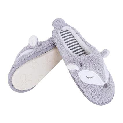 007bb57b8a7965 JINTN Women Ladies Fluffy Comfort House Fox Face Slippers Thermal Fleece Indoor  Slippers Clog Mule Memory