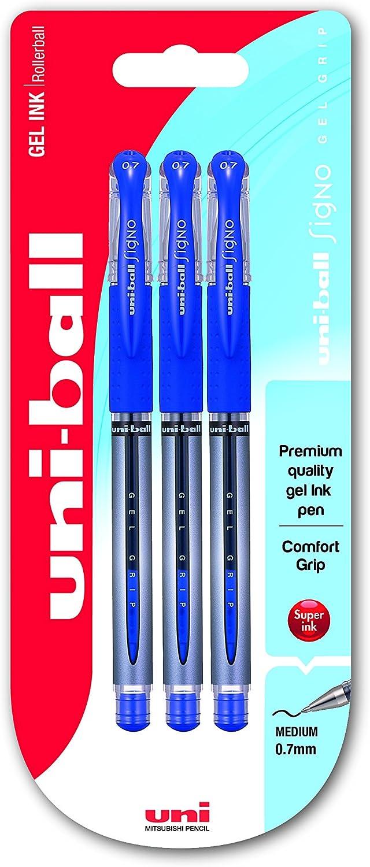 uni-ball 153544105 UMN-307 Signo 307 RT Gelschreiber Gel-Tinte 3 Stück blau