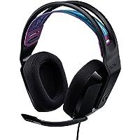 Logitech G335 Bedrade Gamingheadset, Flip-to-Mute-Microfoon, 3,5 mm Audio-Aansluiting, Traagschuim Oorkussens…