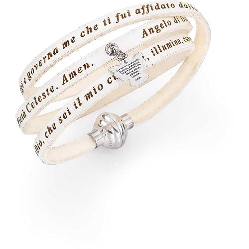 vendita professionale compra meglio Nuova bracciale donna gioielli Amen Angelo di Dio misura 54 casual cod.  AS-ADIT07-54