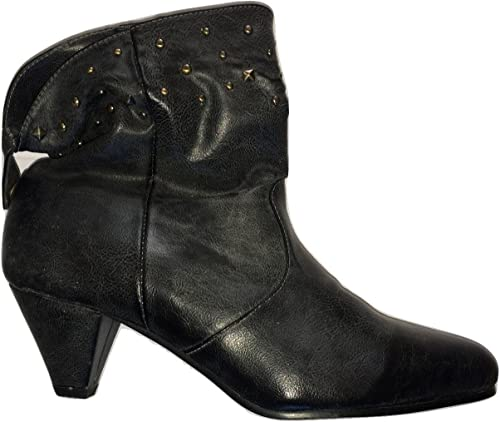 Leather Look Ankle Boot F5656