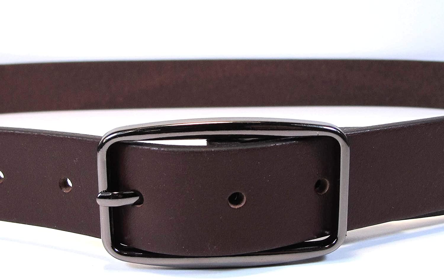 UW3 Womens Real Genuine Leather Dark Brown Belt 1.1 Wide S-L Thick Casual Jeans