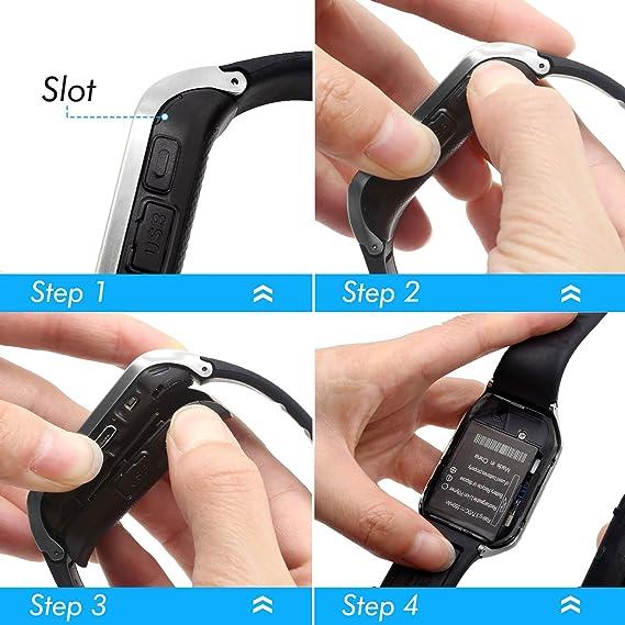 HAMSWAN Smartwatch Bluetooth, [Regalo] Reloj Inteligente Bluetooth para Móvil iOS/Andriod, Multi-Idioma con Cámara, Soporta TF SIM Facebook Whatsapp ...