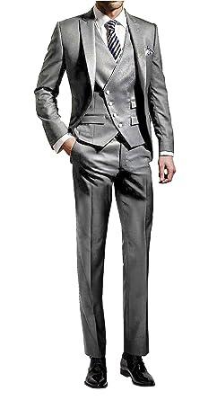 timeless design 19c9e b0d54 Suit Me Herren 3-Teilig Anzug Slim Fit Hochzeiten Party Smoking Anzuege  Sakko,Weste,Hose