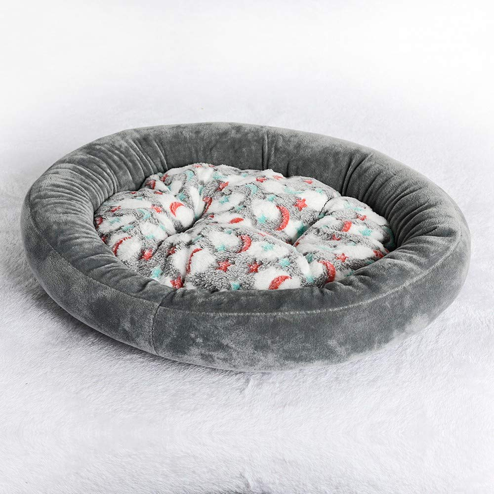 Homes for Pets Deluxe Pet Bed Fluffy Oval Dog House Keep Warm Cat's Den Pet's Den Small Dog Mattress Pet Supplies Cute Washable Bed Cushion Soft Dog & Cat Beds Ideal for Dog Crates (S, Gray) by succeedtop (Image #2)
