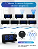 """iRedBeau Projection Alarm Clock,7"""" Curved-Screen"""