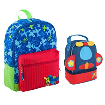 Stephen Joseph Boys Quilted Airplane Backpack