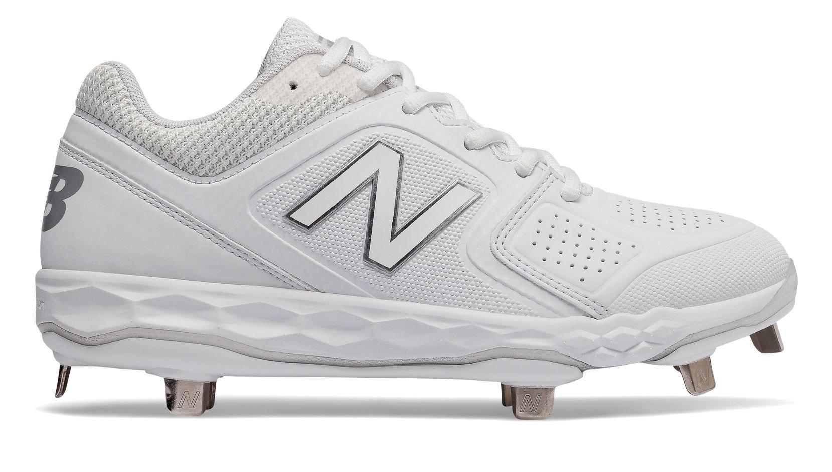 New Balance Women's Velo V1 Metal Softball Shoe, White/White, 9 D US
