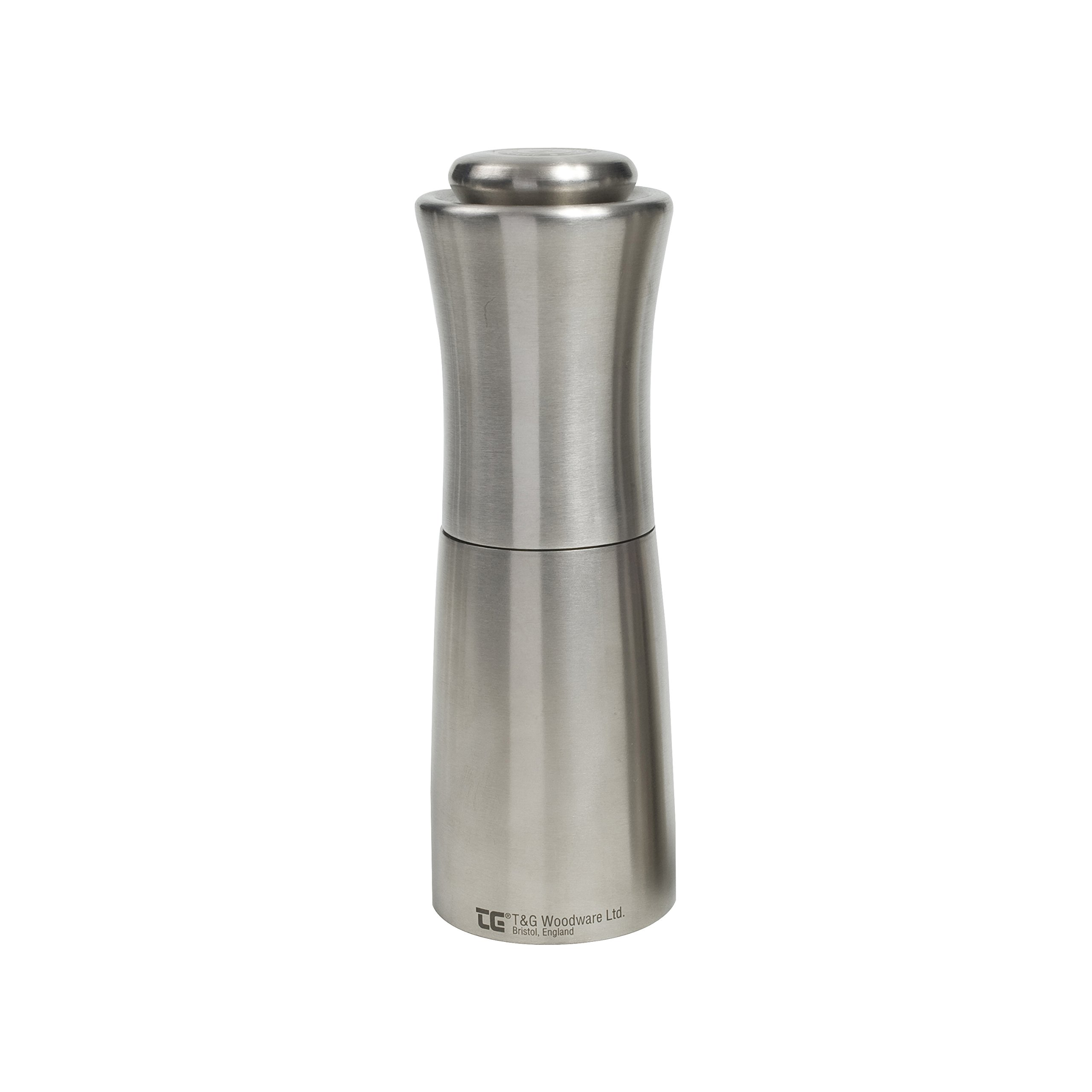 T&G CrushGrind Apollo Pepper Mill, Stainless Steel, 150 mm by T&G Woodware