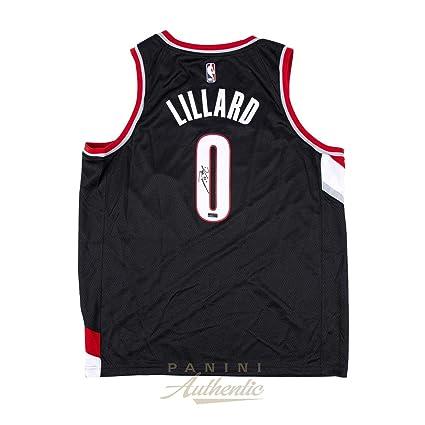 9ac879258 Damian Lillard Autographed Jersey - Black Nike Trailblazers Swingman ~ Open  Edition Item ~ - Panini - Autographed NBA Jerseys at Amazon's Sports ...