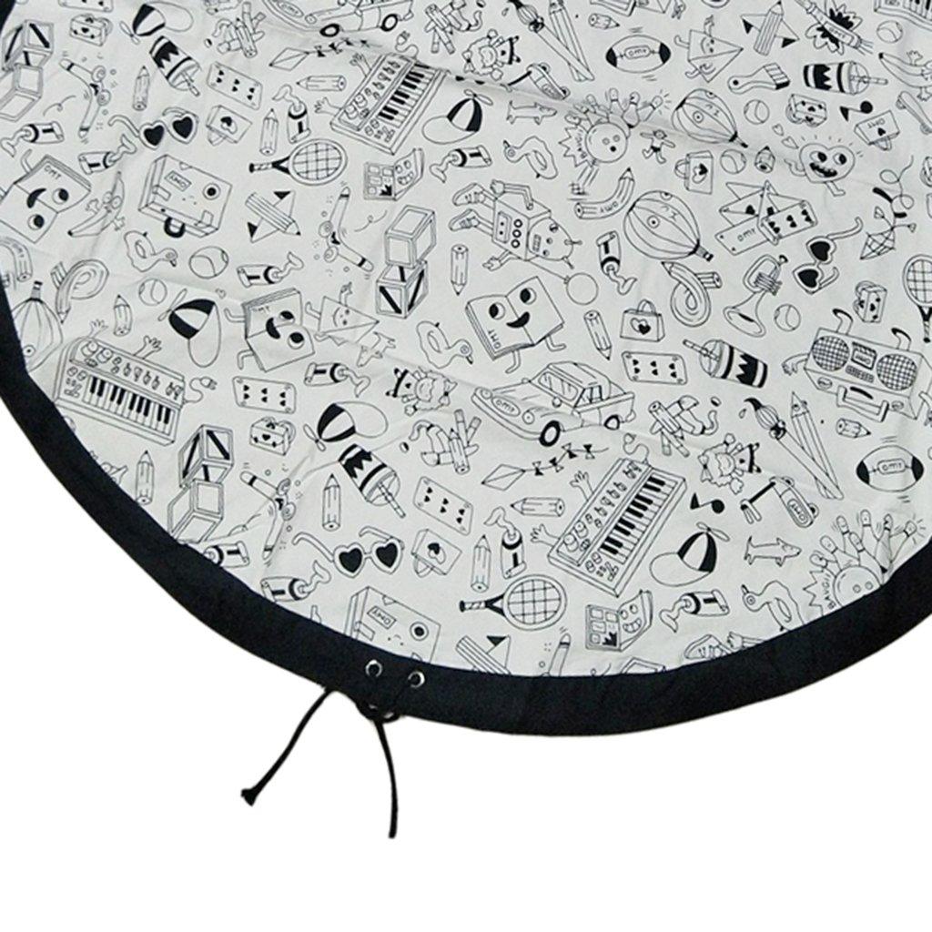 Autoroute petsola Couverture De Plein Air De Tapis De Pique-Nique De Tapis De Jeu De Sac De Rangement De Sac De Rangement De Jouet De Jouet denfants