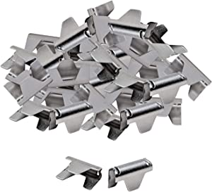 House2Home 40 Pack Upholstery Stay Wire Clips for Sofa, Couch, and Chair Spring Repair, Includes Instructions, Connectors to Attach Springing Wire to Springs