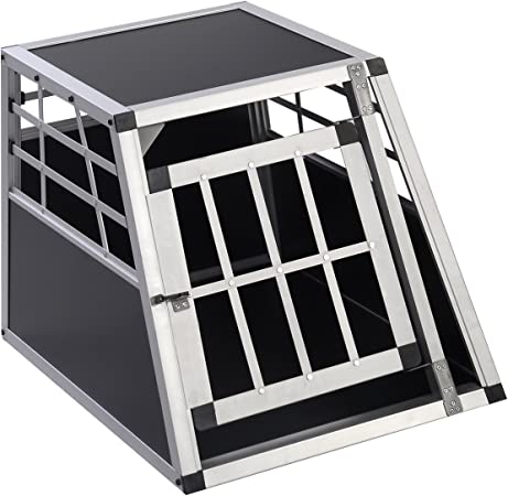FDS Aluminio Perros Box Caja de Transporte Perros Caja de Transporte Alubox Caja Estuche de Viaje Auto Caja Rejilla Caja: Amazon.es: Productos para mascotas