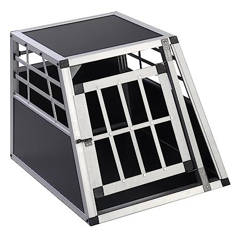 Jaula de transporte para perros de aluminio + MDF 1 puertas caja ...