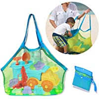 Diagtree Mesh Extra Large Beach Bag Tote Bag for Carrying Beach Toys Grocery Shopping Picnic Vacation Mesh Beach Bag and…