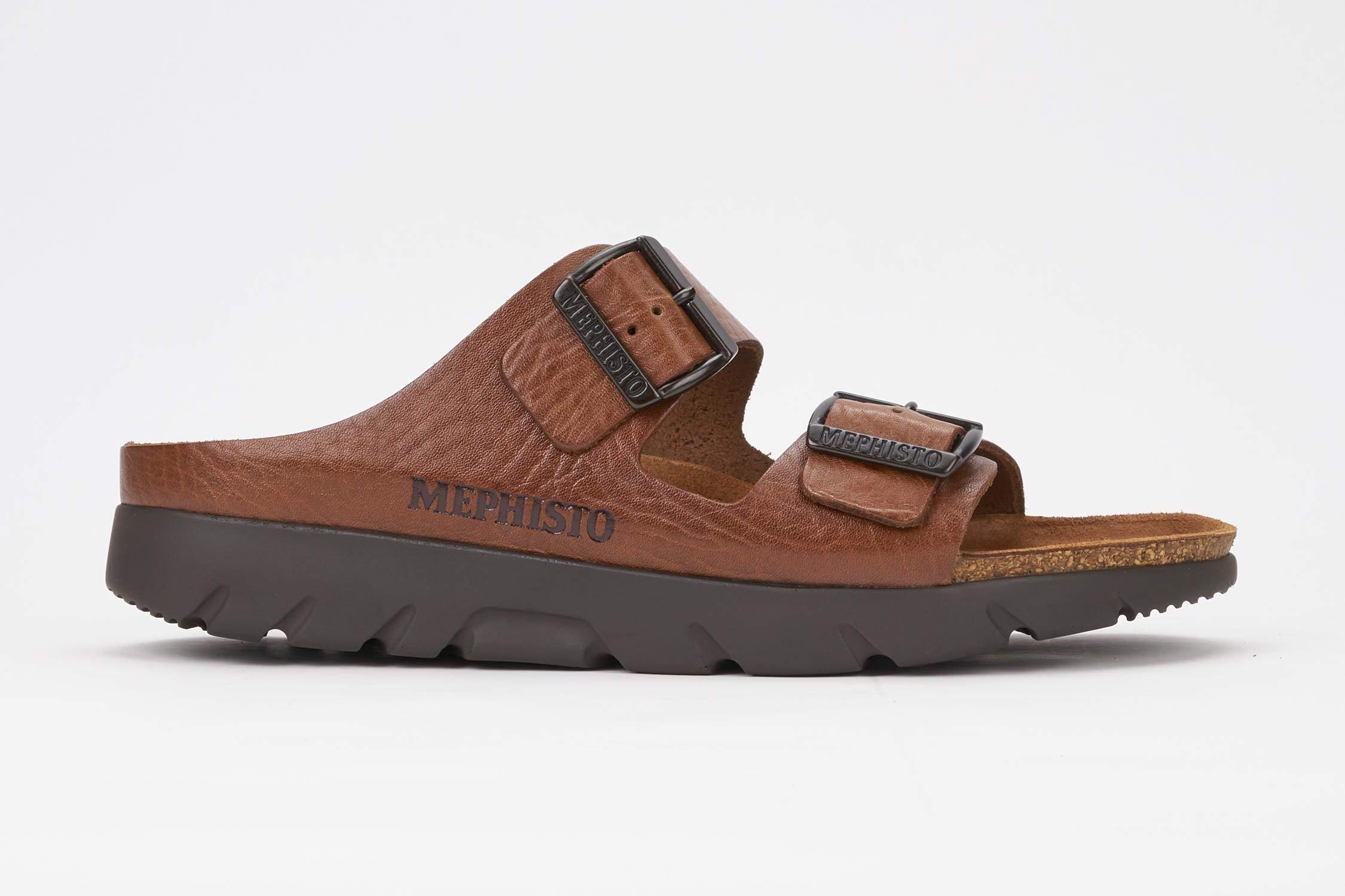 Mephisto Men's Zonder Sandals Tan Grain Leather 45 (US Men's 11), Desert