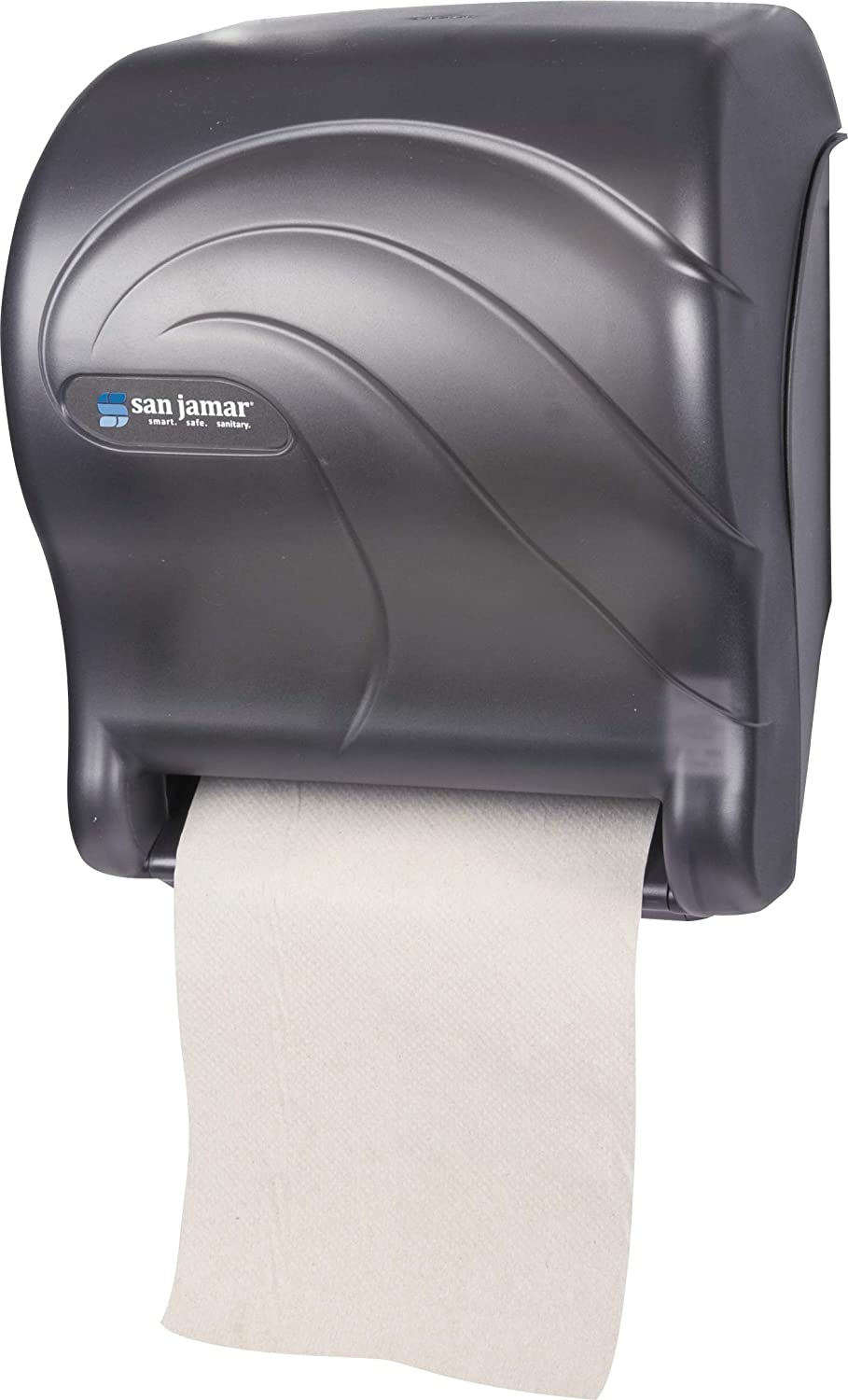 San Jamar T8090TBK Tear-N-Dry Essence Oceans Hands Free Paper Towel Dispenser, Black Pearl