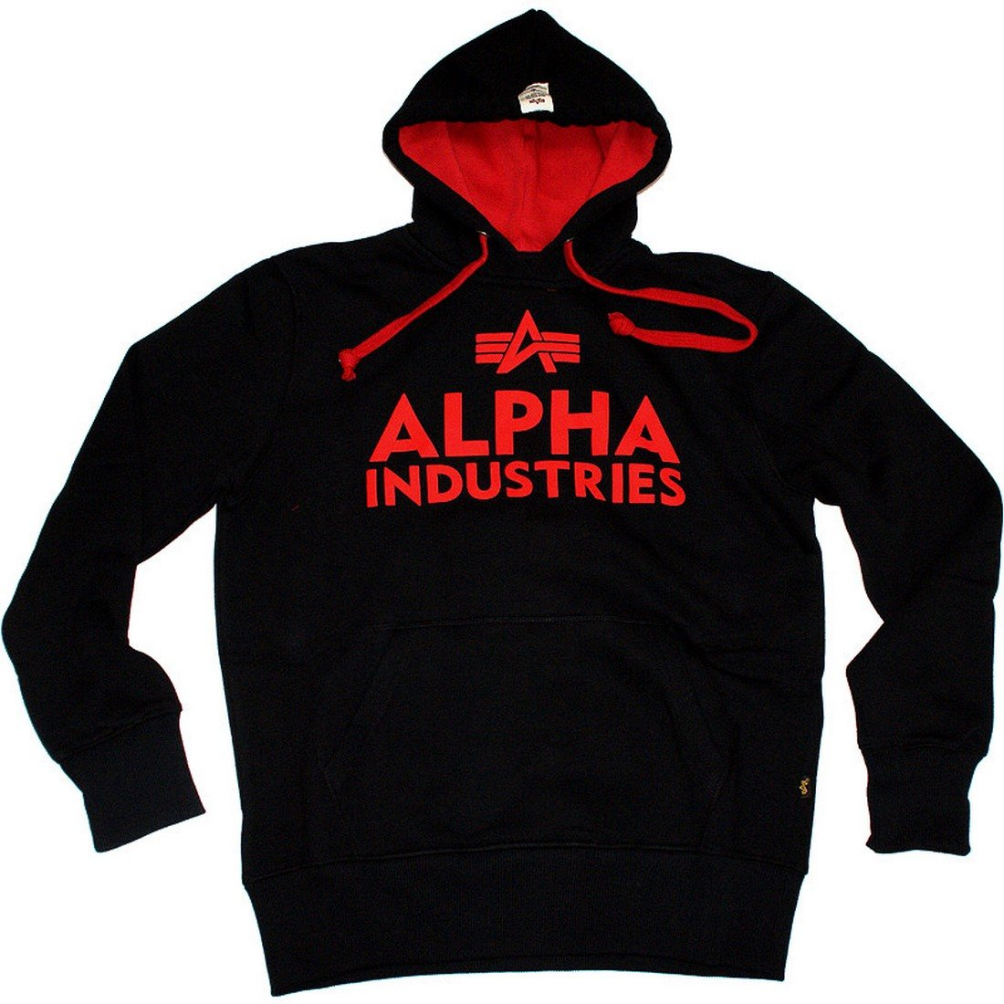 Alpha Industries - Foam Print Hoodie schwarz