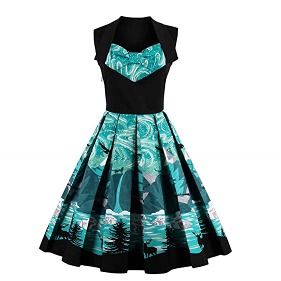 NEW women vintage sleeveless vestidos de fiesta cortos summer dress 1950s 60s green women vintage dress