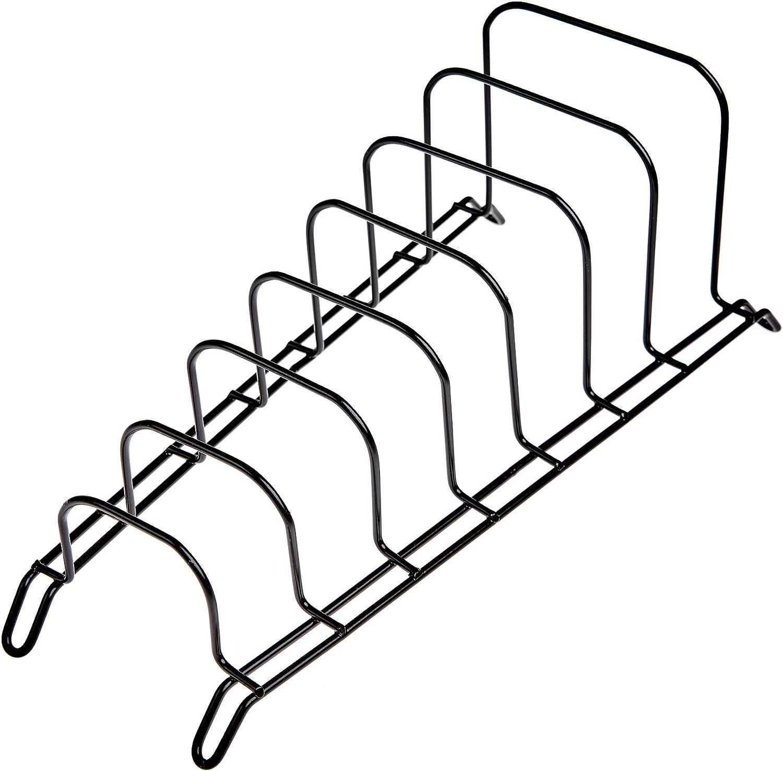 soporte para 7 secciones organizador JD Europe tapa para cacerola sartenes Soporte para olla negro