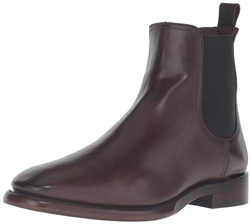 FRYE Men's Weston Chelsea Boot, Dark Brown, ...