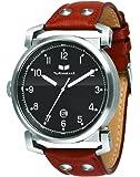 Vestal Men's OB3L001 Observer Silver Black Leather Watch