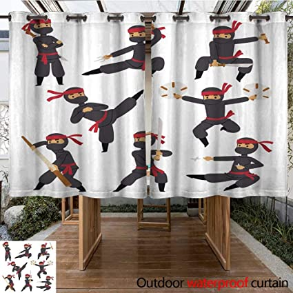 Amazon.com : Outdoor Curtains for Patio Waterproof Different ...