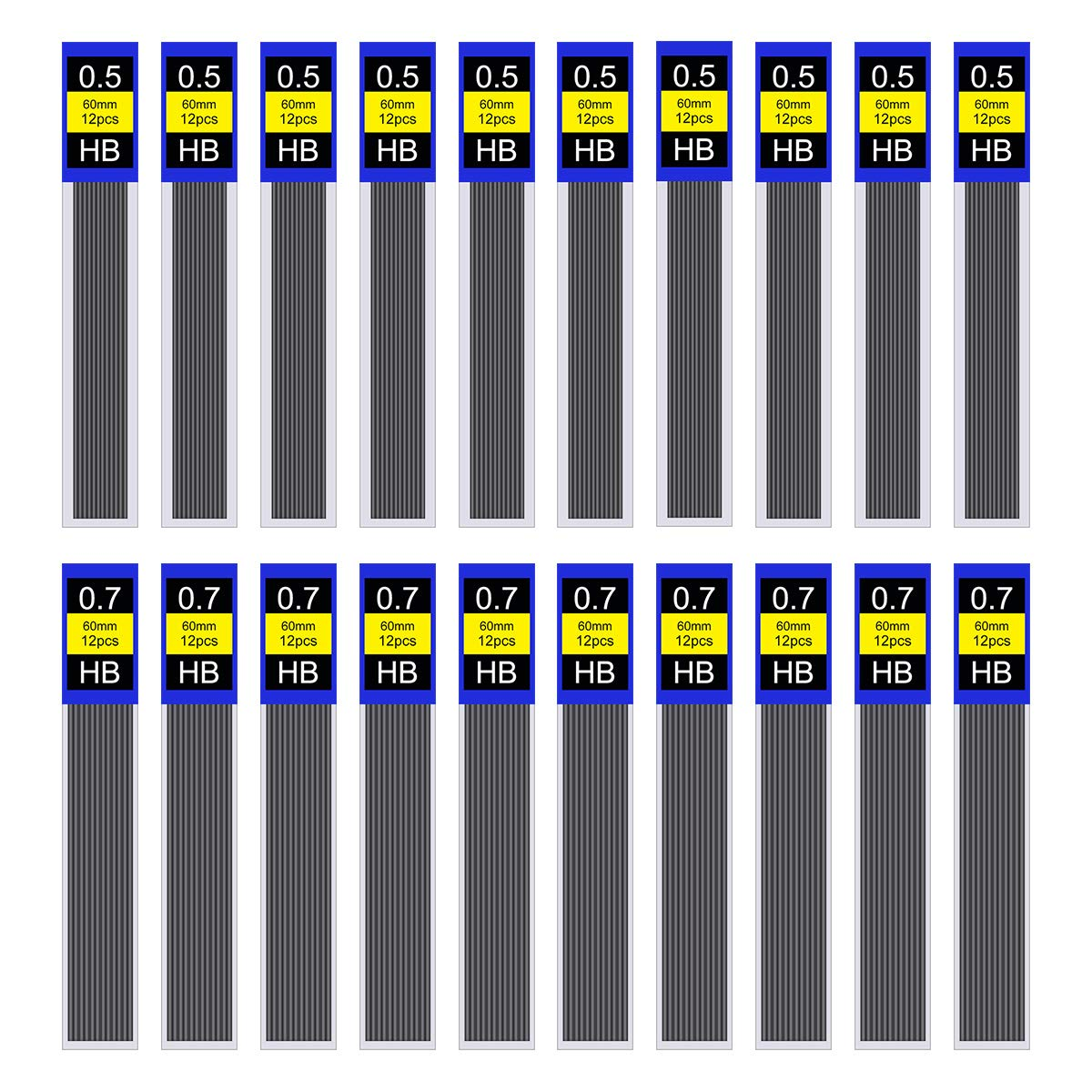 WXJ13 240 Pack 0.5 mm HB Lead Refills Mechanical Automatic Pencil Leads...
