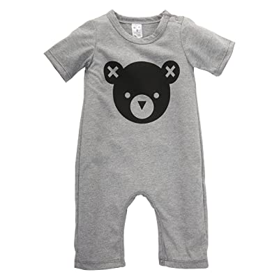2016 Newborn Baby Girls Boy Bear Romper Playsuit Outfits Cotton Clothes 0-24M