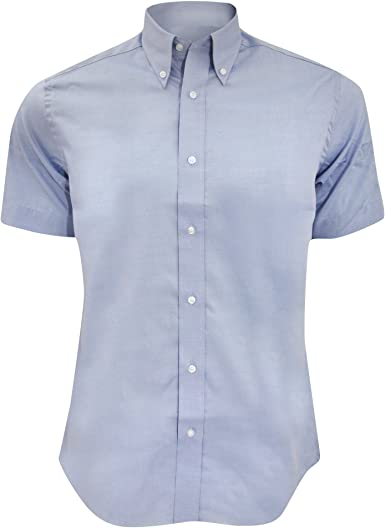 KUSTOM KIT - Camisa Ajustada de Manga Corta Modelo Oxford Premium - Trabajo/ Boda/Fiesta: Amazon.es: Ropa y accesorios