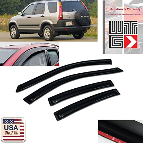 Amazon.com  VITO 4pcs Side Window Deflectors Original Window Visors For  2002 2003 2004 2005 2006 Honda CRV 4 Door Vent Visor Sun Rain Guard   Automotive dc6bba573d3