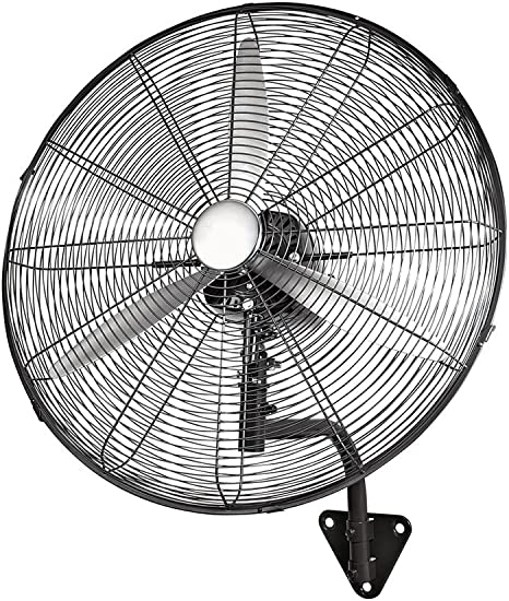 Xiao Jian Electric Fan-Wall-Mounted Horn Metal Blade Pure Copper Motor Large Wind Industrial Electric Fan Electric Fan