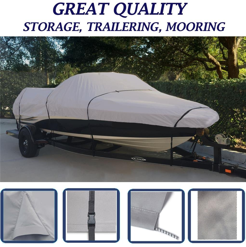 SBU Grey, Storage, Travel, Mooring Boat Cover for WEERES Key Largo 188 1998 by SBU