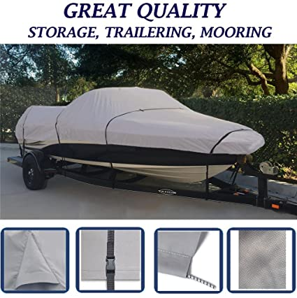 SBU Grey, Storage, Travel, Mooring Boat Cover for BAYLINER Capri 1750 CU/LS  BOWRIDER I/O 1993-1997