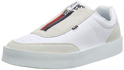 Femme Zipper Tommy Basses SneakerSneakers Light Jeans hQxtCdsr