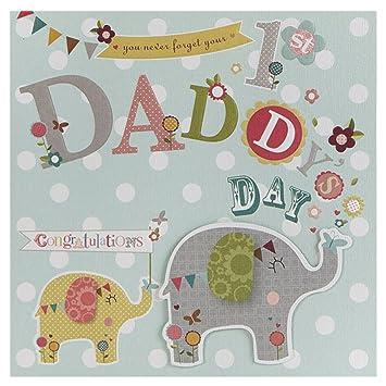 Hallmark - Tarjeta de felicitación del día del padre (forma cuadrada, tamaño mediano, con texturas)