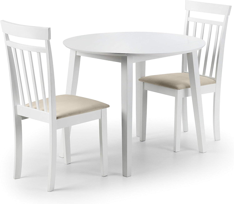 Julian Bowen Coast Set Of 2 Dining Chairs White Amazon Co Uk Kitchen Home