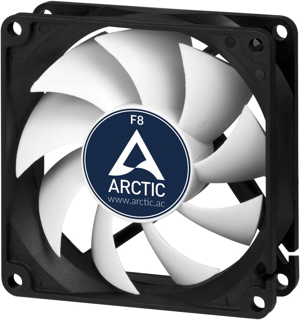 Arctic F8-80 mm Standard Case Fan | Ultra Low Noise Cooler | Silent Cooler with Standard Case | Push- or Pull Configuration Possible