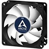 ARCTIC F8 - 80 mm Standard Case Fan | Ultra Low Noise Cooler | Silent Cooler with Standard Case | Push- or Pull Configuration possible