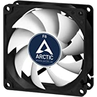 ARCTIC F8 - 80 mm Standard Case Fan, Ultra Low Noise Cooler, Silent Cooler with Standard Case, Push- or Pull Configuration possible, Fan Speed: 2000 RPM