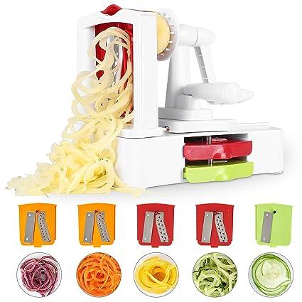 Mvpower Vegetable Cutter With 5 Blades Peeler Spiral Cutter