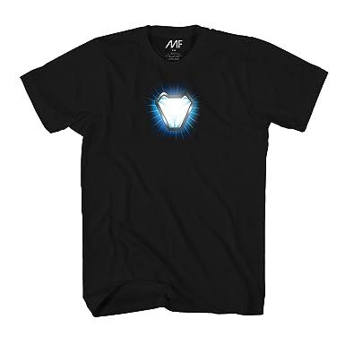 Marvel Avengers Infinity War Iron Man Arc Reactor Flare Mens T Shirt (Small,