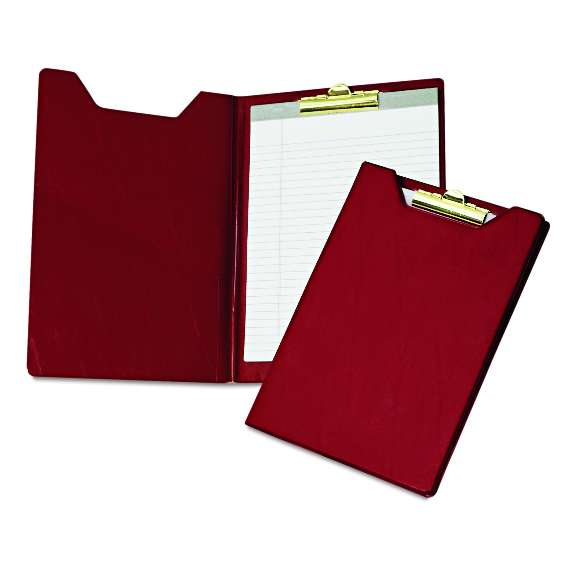 Samsill 71414 Value Padfolio, Heavy Vinyl, Brass Clip, Writing Pad, Inside Pocket, Burgundy