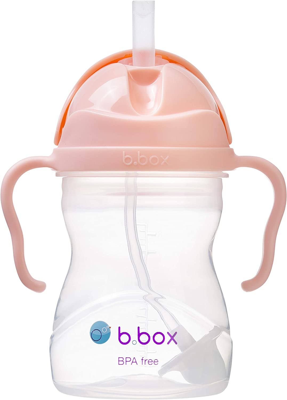 b.box Sippy Cup Training Beaker with Easy Grip Handles /& Flip Top Lid Apple