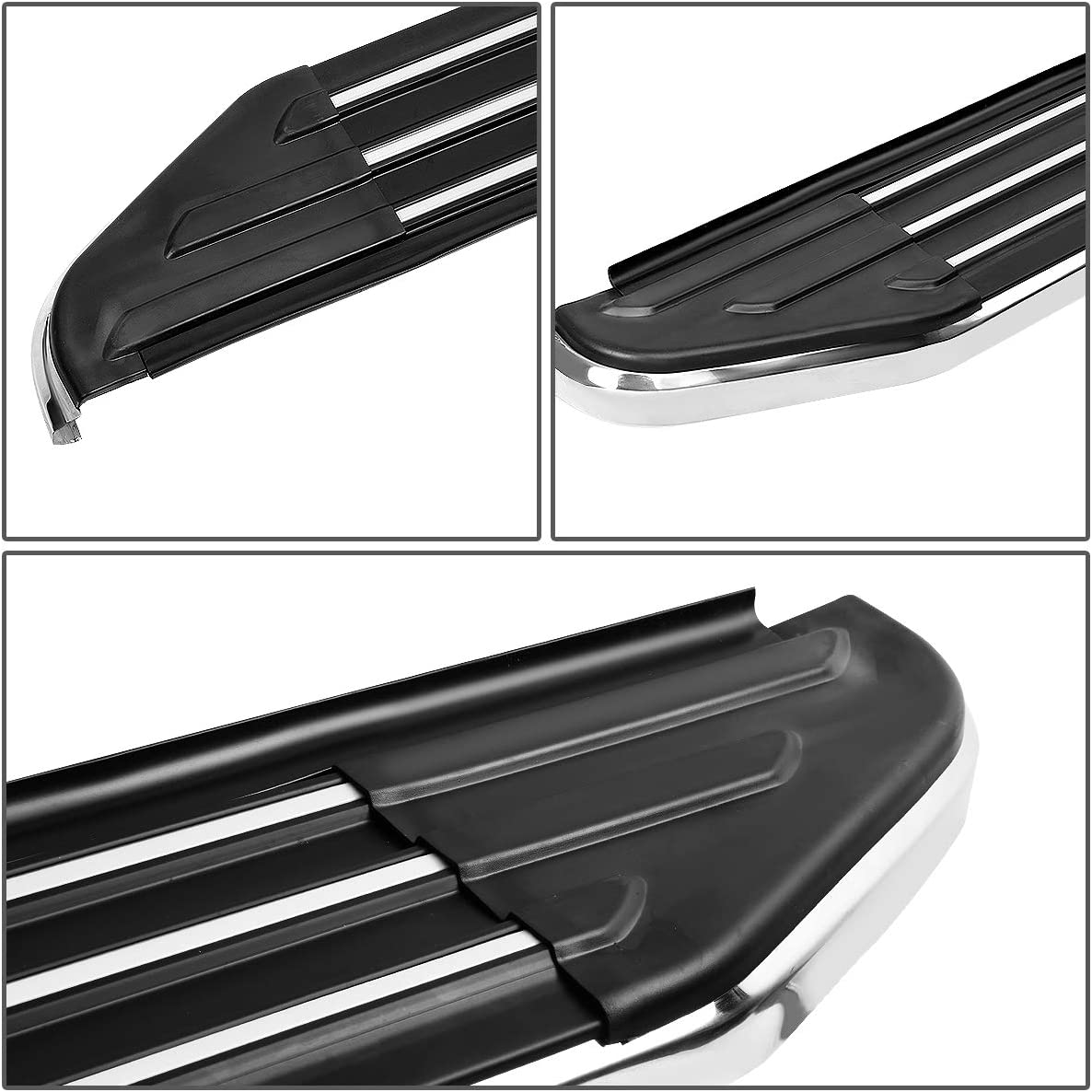 Pair 5.5 Inches Wide Aluminum Side Step Bar Running Boards for Ford Explorer 11-19