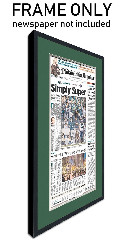 Amazon the philadelphia inquirer newspaper frame with amazon the philadelphia inquirer newspaper frame with philadelphia eagles colors double mat solutioingenieria Images