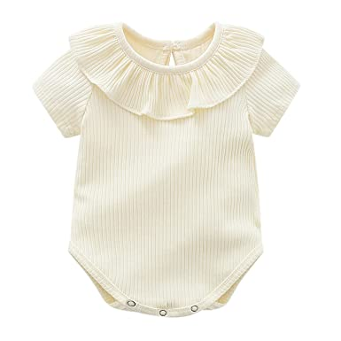 550a84487 Toddler Baby Girls Cute Short Sleeve Doll Collar Knitted Sweater ...