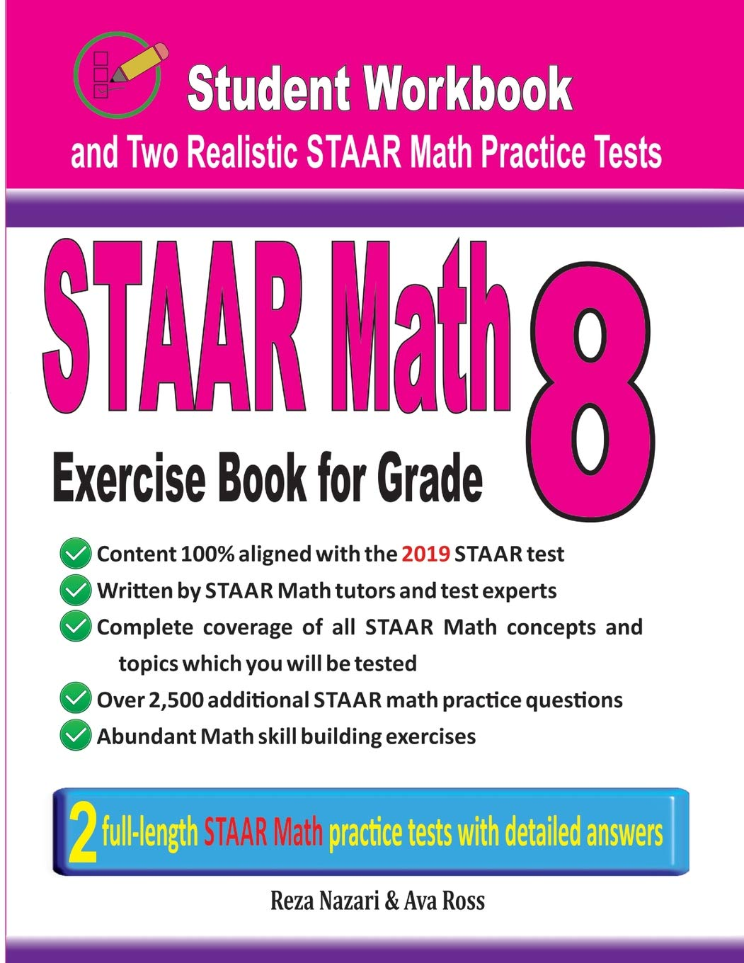 Buy Staar Math Exercise Book for Grade 8: Student Workbook